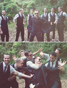 I love fun groomsmen shots, and this one is so rad!