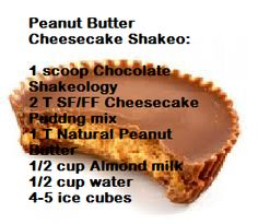 Peanut Butter Cheesecake Shakeology Recipe