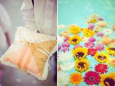Teal + Yellow + Pink + Orange color palette. Great for a spring shower or party!
