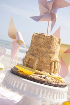Yes, folks, that's a cake! A sandcastle cake—amazing! #birthday #party