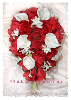 roses and calla lillies