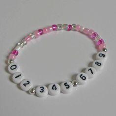 Cell phone number bracelet