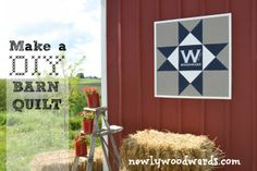 How to create a modern barn quilt. perfect for a barn exterior for summer parties!