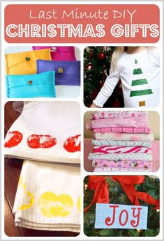 5 Last Minute DIY Christmas Gifts, simple homemade gifts including handmade tea towels, christmas signs, and more! Kid-friendly.