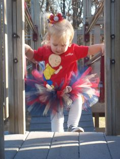 [Caillou Inspired Tutu Birthday by BuzyBeeBowtique on Etsy, $19.49.]     Will change it up but I like the idea