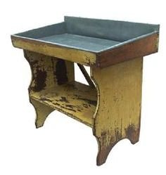 Early 19th century Lancaster County, Pennsylvania painted bucket bench,