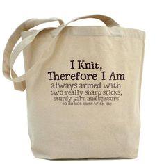 Cute #knitting tote.