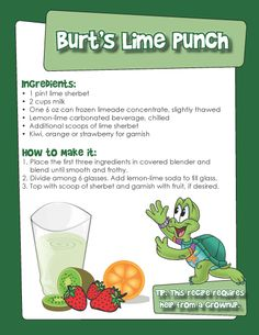 Celebrate St. Patty's Day with Burt's Lime Punch #recipe