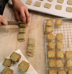 Gruyere and Hazelnut Crackers  Makes about 80 crackers    1/2 cup hazelnut flour  1 1/4 cups all-purpose flour  1 1/4 teaspoons kosher salt  3/4 teaspoon freshly ground black pepper  1/4 cup unsalted butter, cold, cut into small pieces  1 1/2 cups gruyere cheese, grated with the small holes of a box grater  1 large egg, room temperature  2 tablespoons heavy cream  Maldon salt, for sprinkling