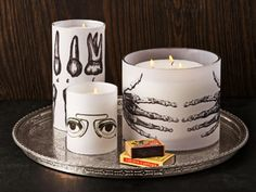 Afraid of the dark? Illuminate the night with these marvelously macabre candleholders.