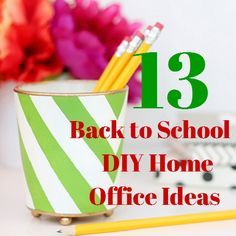 13 Back to School DIY Home Office Ideas