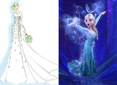 We can't hold it back anymore- Elsa is getting the Disney's Fairy Tale Weddings treatment! Here is a sneak peak of the gorgeous Snow Queen of Arendelle inspired gown by Alfred Angelo.