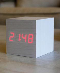 White Rabbit Wood Alarm Clock