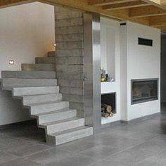 Escalier design on pinterest stairs concrete stairs and metals for Escalier beton design