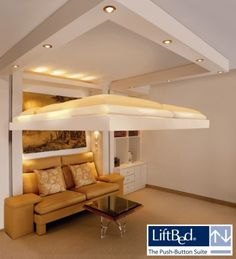 Ceiling Bed - Liftbed- great idea for small bedrooms