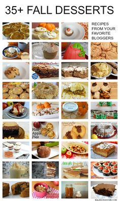 35+ FALL desserts (link round-up)