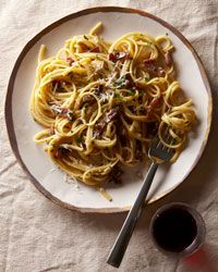 Linguine Carbonara | No book about quick pastas would be complete without a version of this classic. It's made with little more than bacon and eggs.