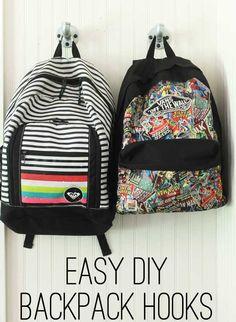 backpack hook, diy backpack
