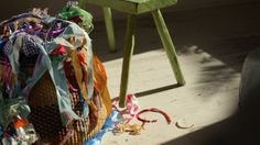 New Orleans Artists – Kaki Foley by Anthropologie. Lucky is the fallen branch or scrap of fabric that finds its way into Kaki's hands, for she will undoubtedly decorate, paint, assemble and reinvent it as a wonderfully offbeat work of art.