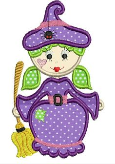 Machine embroidery design Halloween Witch applique design for embroidery machine. $4.99, via Etsy.
