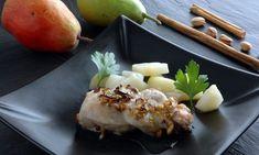 Receta de solomillo de cerdo con forma de trenza y gratinados con queso y pistachos. Acompañaremos el solomillo con unas peras con canela. #solomillo #receta