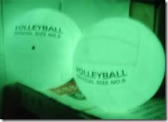 I will definitely do this glow in the dark volleyball