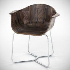 Walnut shell seat by Tony O'neill