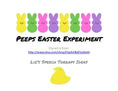Peeps Easter Experiment - Pinned by @PediaStaff – Please Visit  ht.ly/63sNt for all our pediatric therapy pins