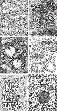 Free doodle coloring pages #arttherapy