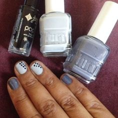 Grey is the new black when it comes to nail polish for fall. Enter to win Duri's new fall collection here: http://www.beautyiswithin.net/2014/09/easy-diagonal-nail-art-design-duri-nail.html