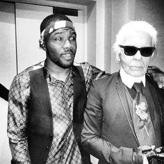 Frank Ocean + Karl Lagerfeld