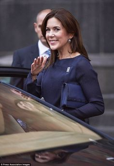 Crown Princess Mary at presentation of Danish Christmas Seal 2014