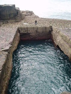 Can you believe this blow hole is 100% naturally formed. It is called the 'Serpents Lair' and its on Inis Mór, the largest of the Aran Islands. Used for Red Bulls cliff diving world championships last year.
