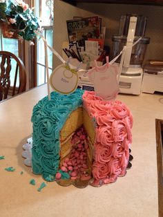 Gender reveal cake I made for my brother and sister-in-law.