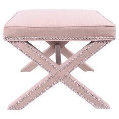Blushed coloured ottoman