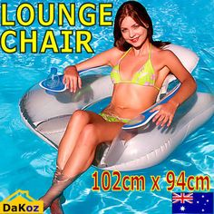 Intex Inflatable Island Floating Outdoor Lounge Chair Pool Tube Swimming Raft