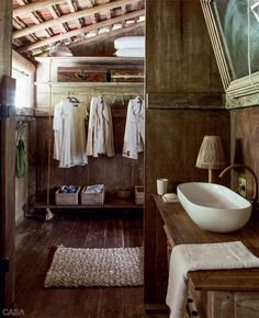 Boat house. Love the hanging closet...but not the sink.