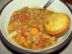 Lentil Soup & Vegan Corn Muffins | HealthyMammas