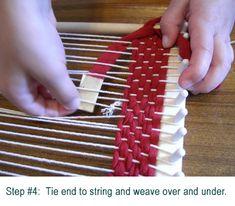 weaving w tshirt fabric and string!