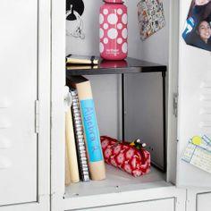 Gear-Up Black Locker Shelf | PBteen
