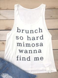 Brunch So Hard Mimosa Tank Top. MUST HAVE