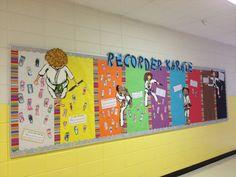 Recorder karate bulletin board