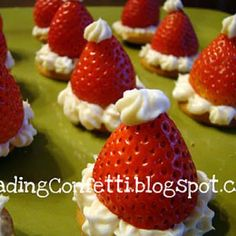 Santa Hat Strawberry Cheesecake