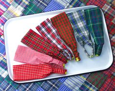 Tartan Plaid Headband: Choose One Plaid- Red, Green,Black- Girls Holiday Fashion- Gift for Her- Stocking Stuffer- Child or Adult. $7.00, via Etsy.