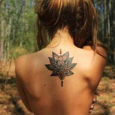 Perfect back tattoo placement.
