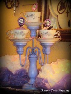 DIY-Teacup Candelabra