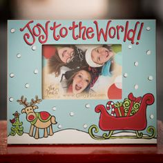 Glory Haus Joy To The World Reindeer Frame
