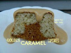 Golden Caramel Cupcakes