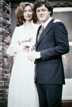 The Clintons - Wedding Day - 1975