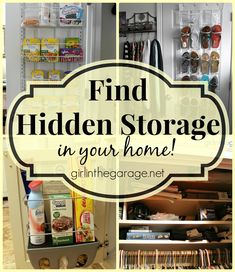 Find Hidden Storage in Your Home: Tips for Maximizing Your Space I girlinthegarage.net